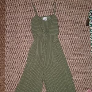 2 for $20! NWOT Green Open Back Jumpsuit Romper